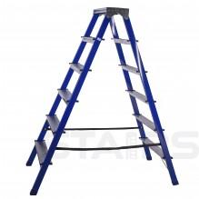 Стремянка стальная двухсторонняя 6 ступеней