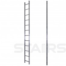 Лестница односекционная приставная усиленная 14 ступеней