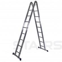 Лестница трансформер 2х9 ступеней