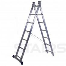 Лестница двухсекционная универсальная усиленная 16 ступеней