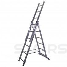 Лестница трехсекционная универсальная усиленная 16 ступеней